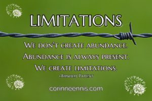 Today's Gold Nugget: LIMITATIONS