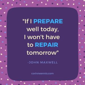 Today's Gold Nugget: PREPARE or REPAIR